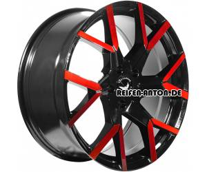 Barracuda Tzunamee Evo 8,5x19 ET40 5x108 Schwarz Glanz Flashrot
