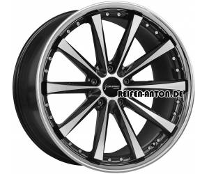 Corspeed Arrows 8x18 ET45 5x112 Highgloss Black Polished Inox Lip