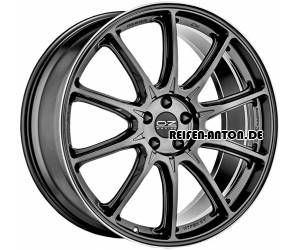 OZ Hyper XT HLT 9x20 ET52 5x112 Star Graphite Diamond Lip