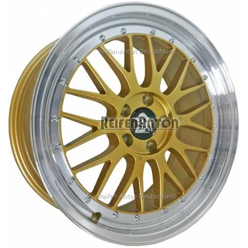 ultra wheels lm ua3 8 5x18 et30 5x112 gold horn poliert. Black Bedroom Furniture Sets. Home Design Ideas