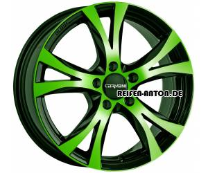 Carmani 9 Compete 7,5x17 ET35 5x120 Neon Green Polish